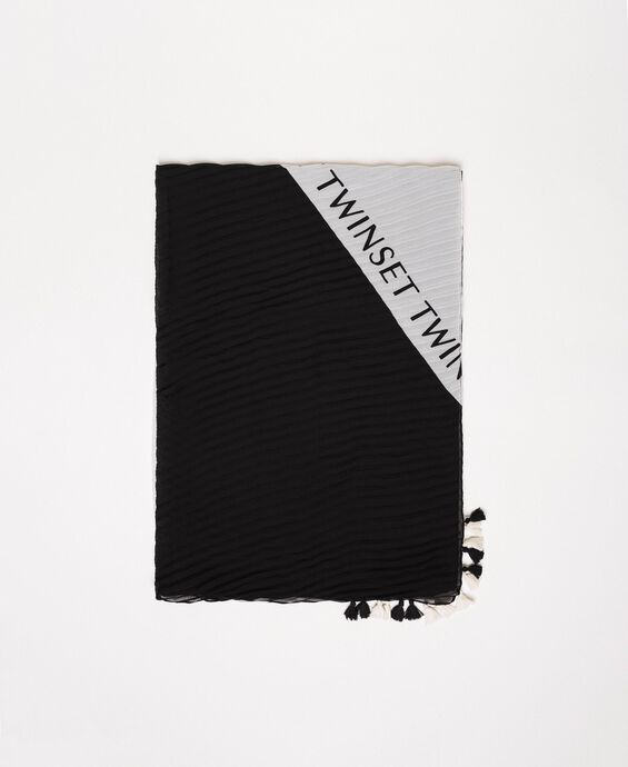 Two-tone stole with logo