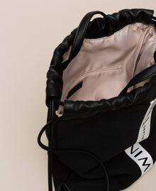 Sac à dos en toile avec logo Noir Femme 201TO8101-05
