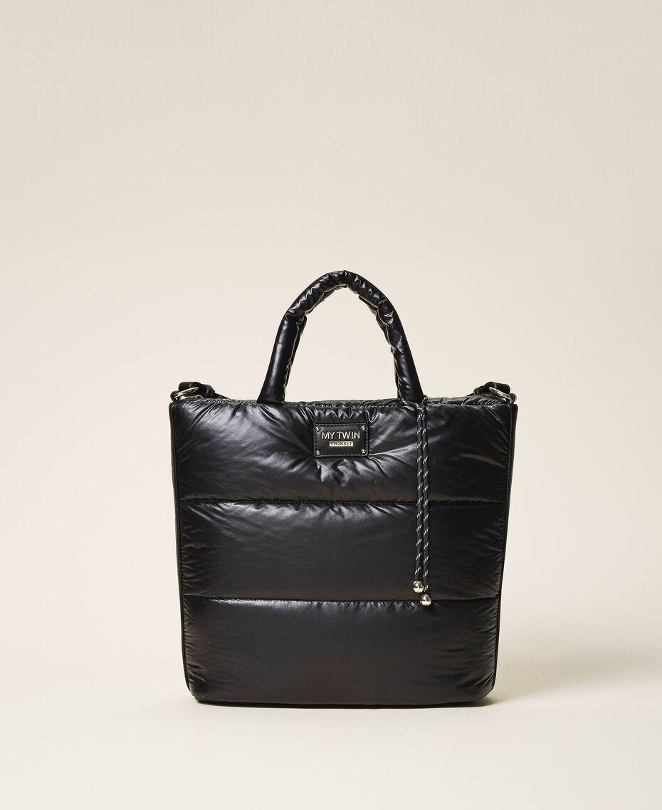 Стеганая сумка-шоппер с логотипом Черный женщина 202MO8021-01