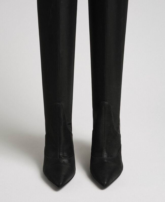 Thigh high boots with stiletto heel Black Woman 192MCP036-04