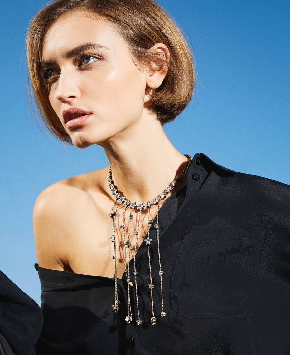Choker with bezels and fringes Crystal Woman 202TA4301-0S