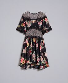 Abito corto in georgette a stampa floreale Stampa Flower Patch Donna PA82MD-0S