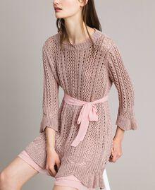 Robe en maille de lurex Lurex Rose Perle Femme 191TP3350-01