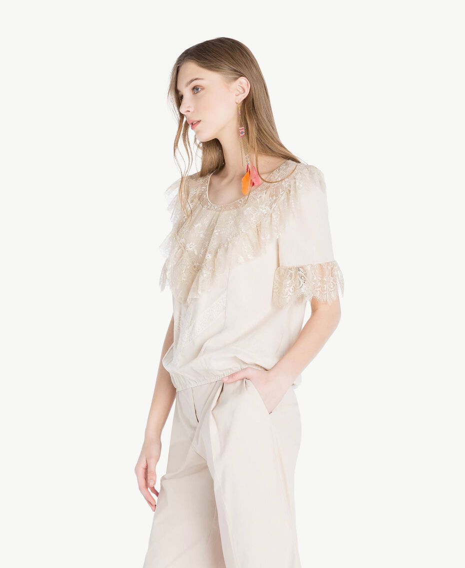 "Lace blouse ""Calla"" White Woman TS82HB-02"