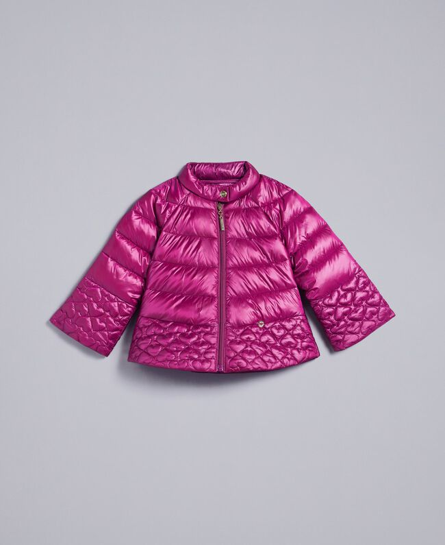 "Superleichte Steppjacke mit Herzen ""Sweet Grape""-Violett Kind GA82AX-01"