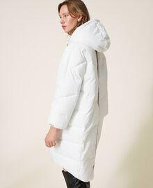 Long puffer jacket with drawstring Ivory Woman 202LI2AAA-03
