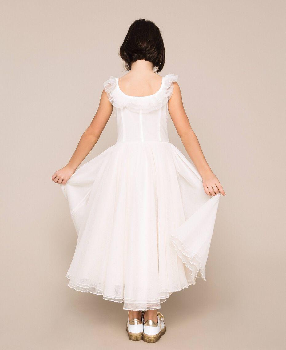 Plumetis tulle dress Pale Cream Child 201GJ2QD0-03