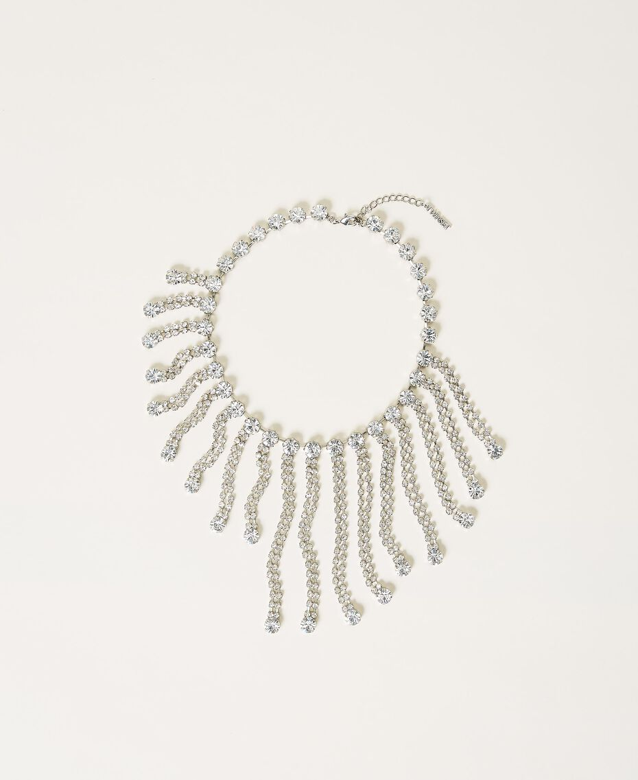 Necklace with rhinestone fringes Crystal Woman 211TO5014-01
