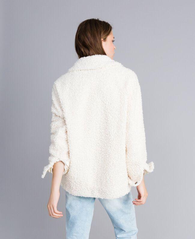Куртка-кабан из искусственной кожи ягненка Перламутр женщина JA82KG-03