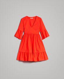 Robe en popeline Rouge Grenadine Femme 191TT2235-0S