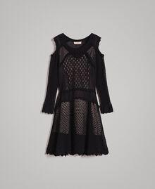 Lace stitch dress Black Woman 191TP3070-0S