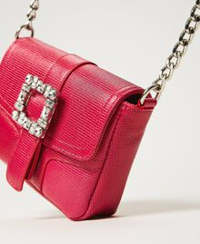 Small Rebel shoulder bag with jewel buckle Black Cherry Woman 202TB7140-01
