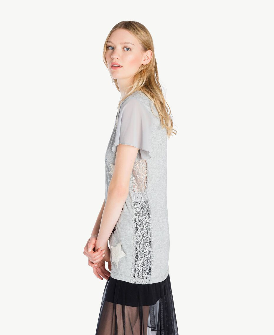 Glitter T-shirt Melange Grey Woman JS82RA-02