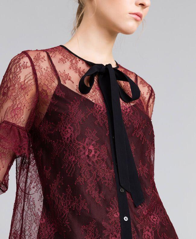 Valencienne lace multi-colour shirt Bordeaux Woman PA82FR-04