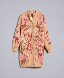 """Cappotto in mohair jacquard Jacquard Fiorato Beige """"Cookie"""" Donna TA831N-0S"""