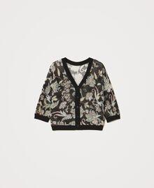 Floral print cardigan-jumper Meadow Flower Print Woman 211TT3141-0S