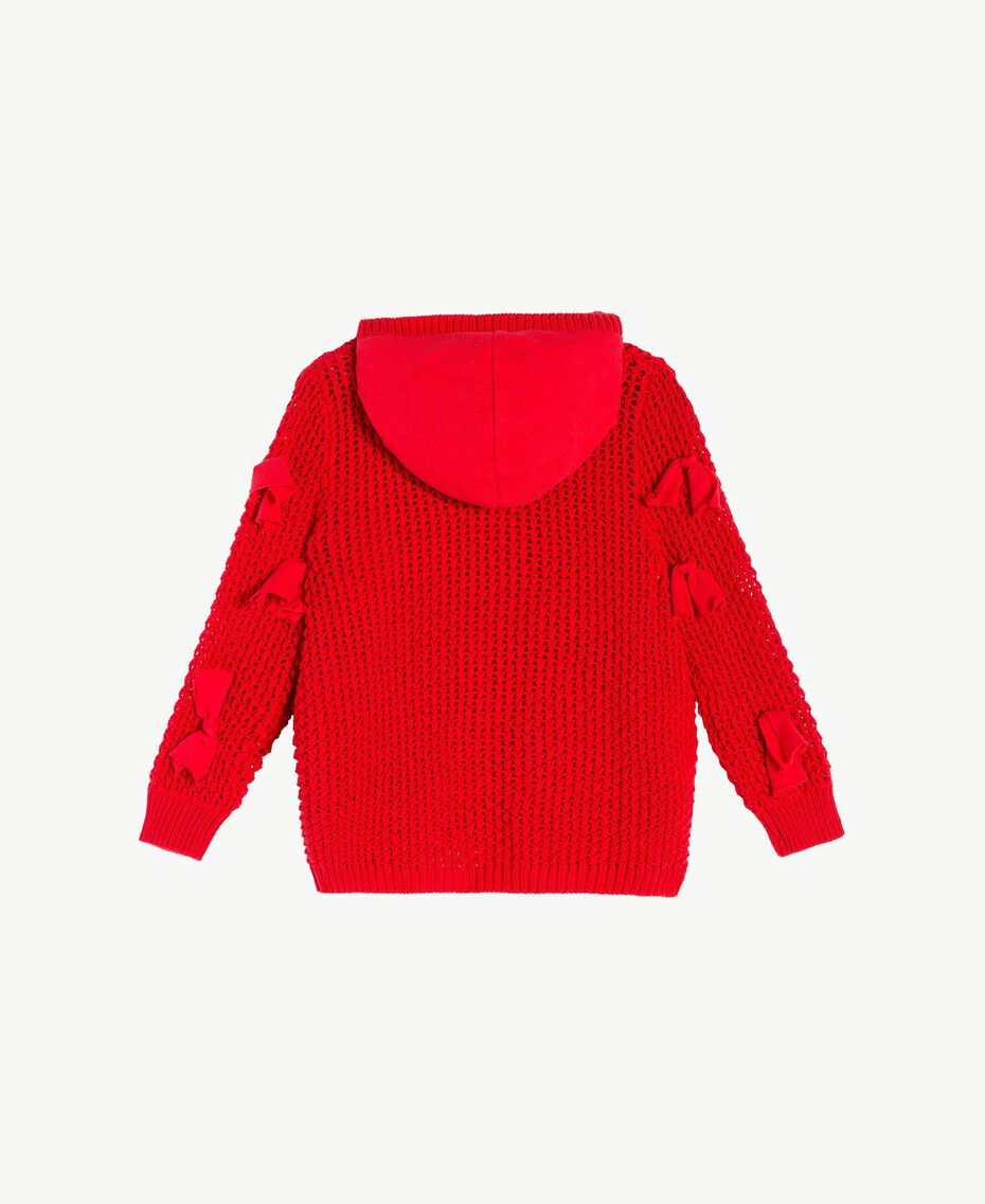 Bow cardigan Pomegranate Red Child FS83BB-02