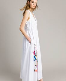 Long dress with print and studs White Woman 191MT2141-03
