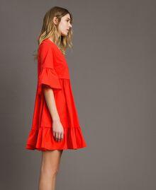 Robe en popeline Rouge Grenadine Femme 191TT2235-02