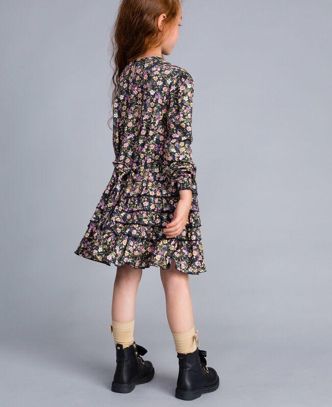 Printed viscose dress Micro Flower Print Child GA82TC-03