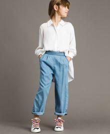 Pantalon en denim souple Jean Doux Enfant 191GJ2560-0S