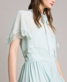 Georgette and lace shrug Acquamarine Woman 191TP2373-03