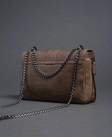 Grand sac à bandoulière Rebel en cuir Tourterelle Femme 192TA7233-03