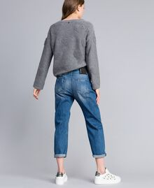 Jeans girlfriend con ricami Denim Blue Donna JA82V1-03
