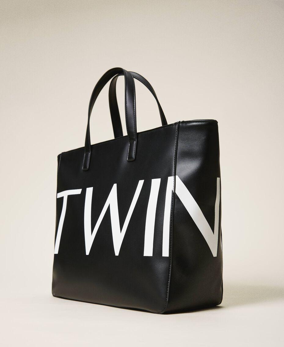 Сумка-шоппер с макси-логотипом Черный женщина 202TB7220-02