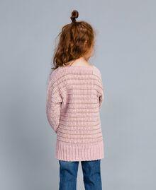 Chenille jumper with lurex Rose / Gold Lurex Jacquard Child GA83K1-03