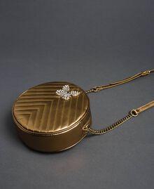 Runde Umhängetasche aus Leder Dunkles Gold Frau 192TO810F-02