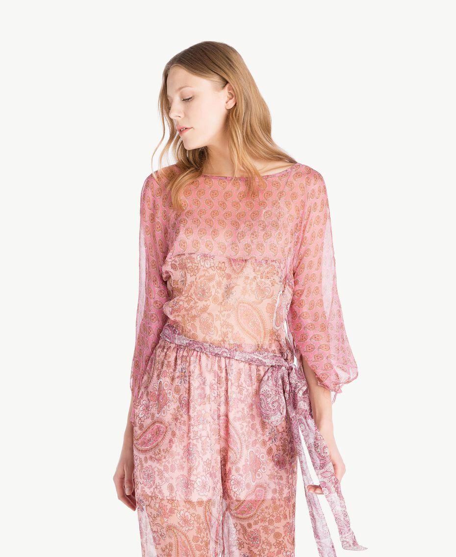 Silk blouse Mixed Paisley Print Woman TS8256-01