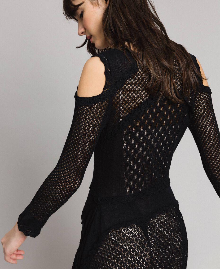 Lace stitch dress Black Woman 191TP3070-05
