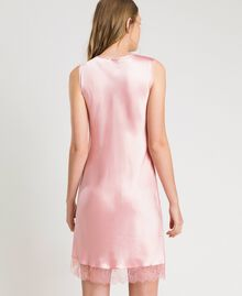 "Slip dress in satin and lace ""Pink Bouquet"" Woman 191LL2DBB-03"