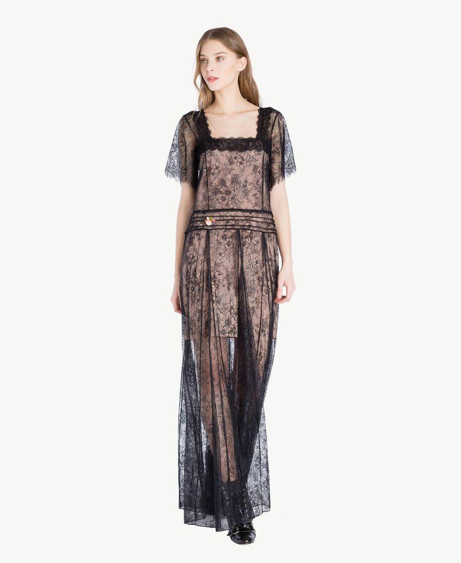 Long lace dress Black Woman PS821F-01