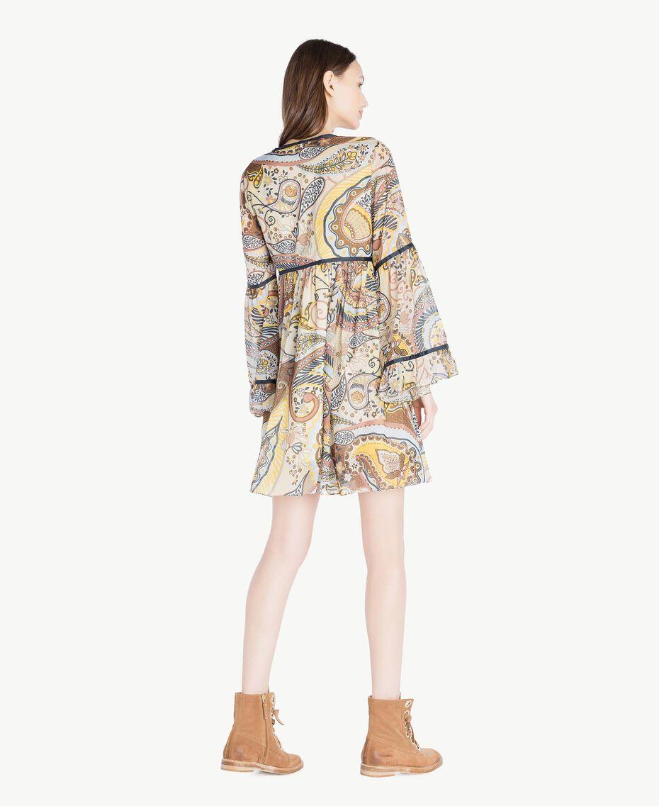 Kleid mit Print Paisleyprint Frau SS82MD-03