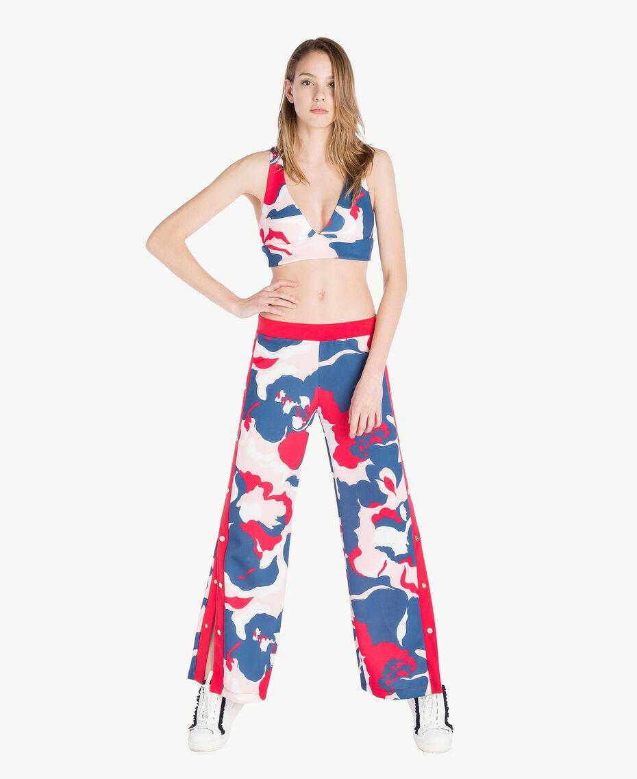 Pantalon imprimé Imprimé «Camouflower» Femme LS86LL-02