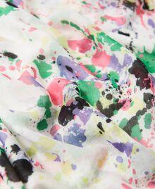 Étole avec imprimé Multicolore Blanc «Cassé Pois» Femme 211MO5364-04