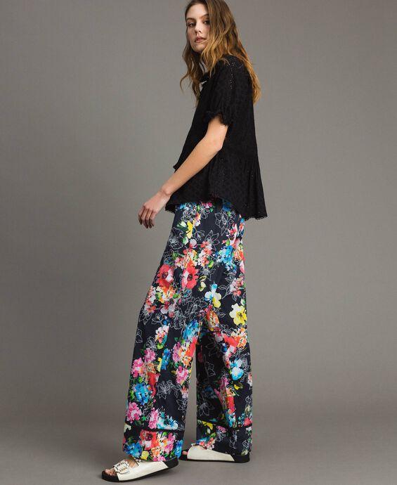 Pantalon palazzo avec imprimé floral