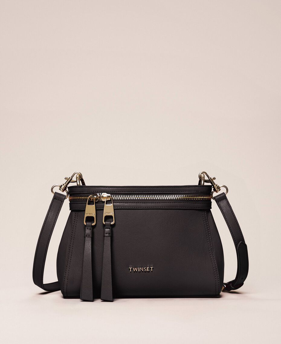 Small faux leather New Cécile bag Black Woman 201TO8181-01