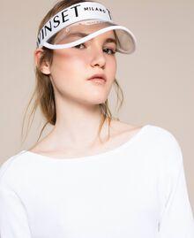 PVC visor with logo Antique White / Black Woman 201TO5404-0S