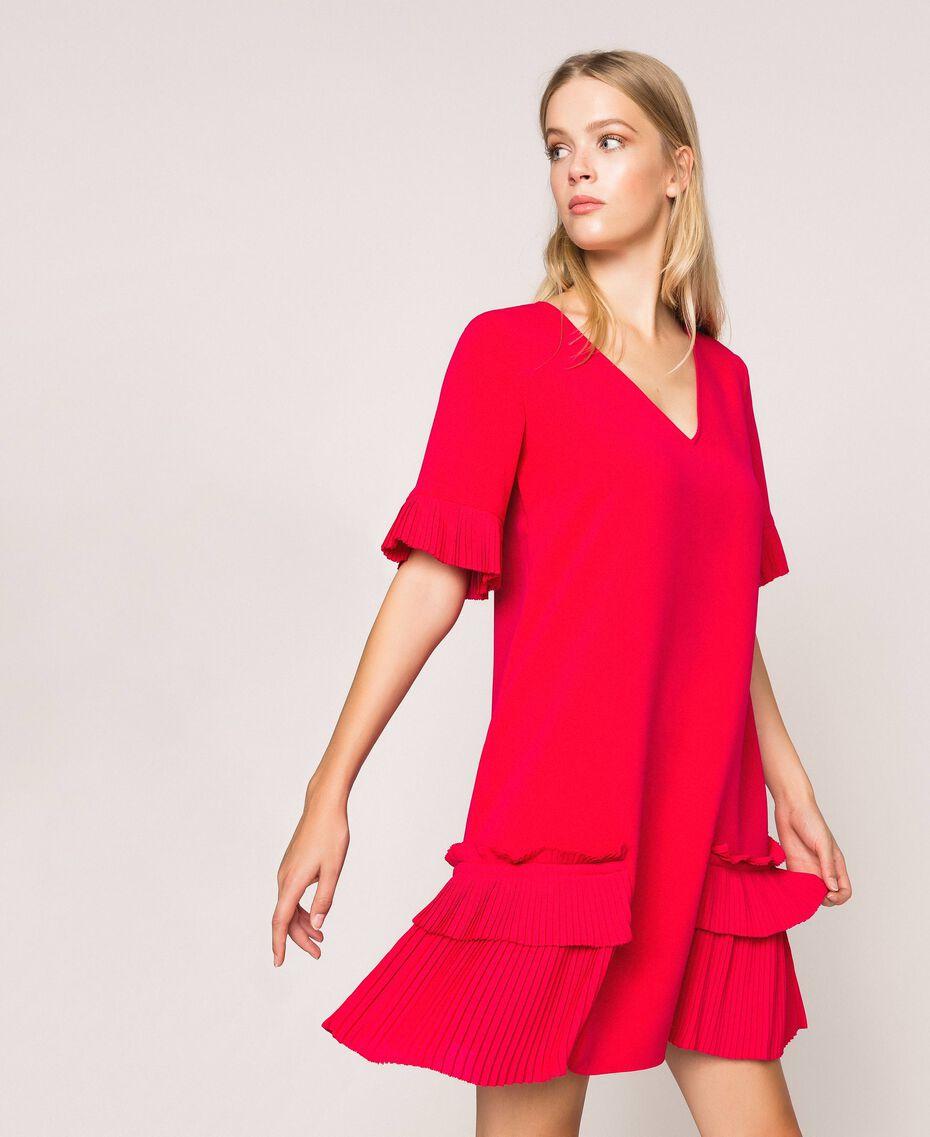 Georgette dress with pleats Black Woman 201TP2026-01
