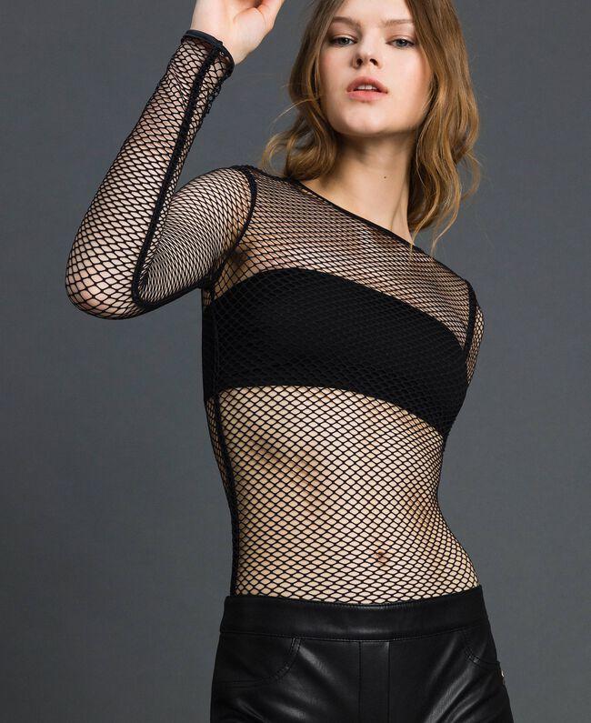 Body en filet Noir Femme 192TP2770-01