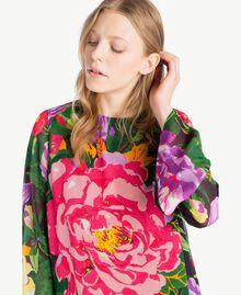 "Kleid mit Print ""Summer Garden""-Print Frau TS8242-04"