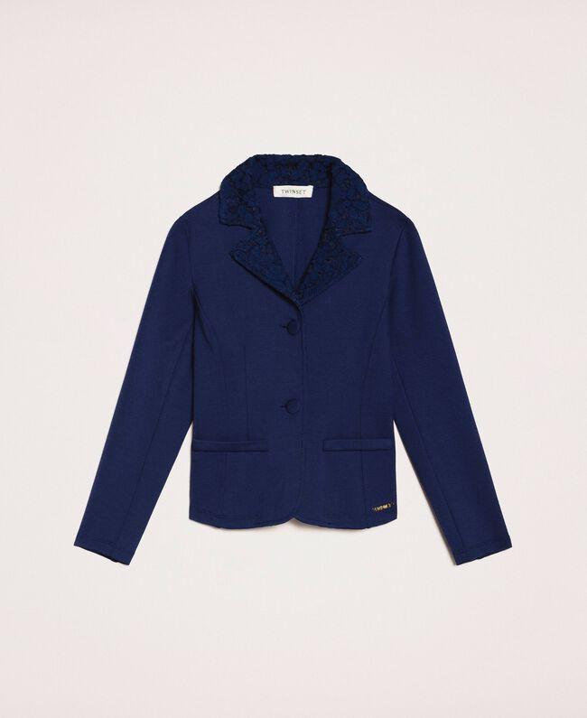 Macramé lace blazer Night Blue Child 201GJ2QL1-0S