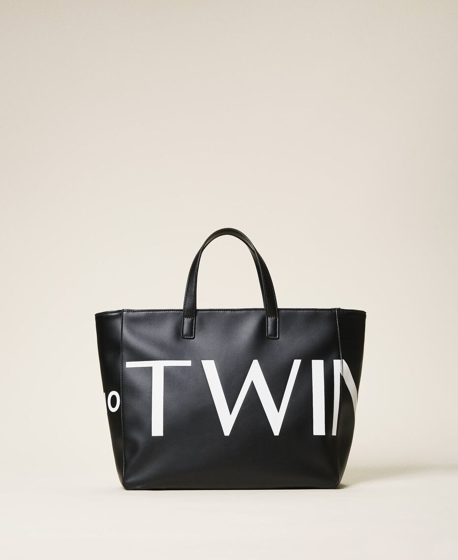 Сумка-шоппер с макси-логотипом Черный женщина 202TB7220-01