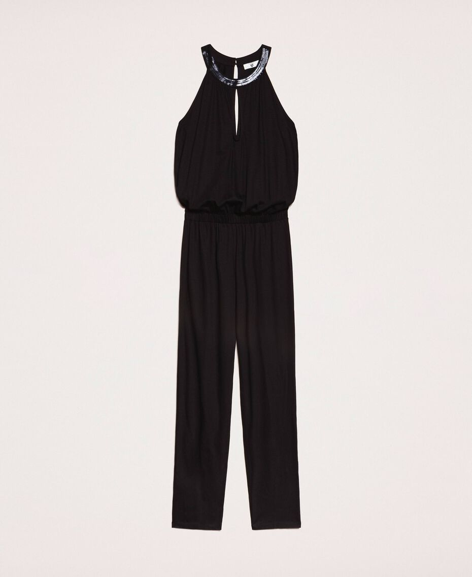Jumpsuit with sequins Black Woman 201LB2CHH-0S
