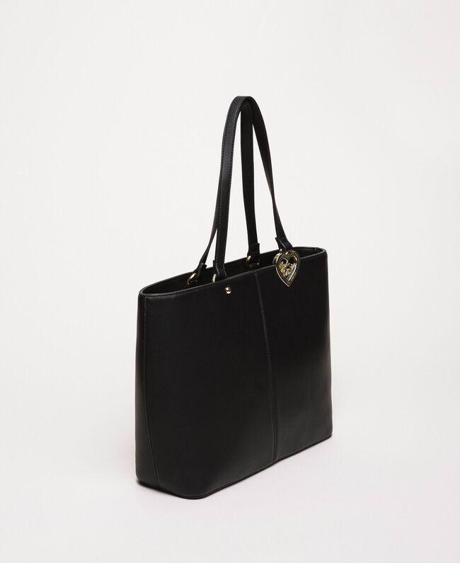 Сумка-шоппер из искусственной кожи с платком Черный женщина 201MA7080-03