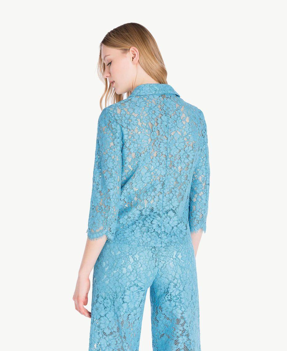 Veste dentelle Bleu d'Orient Femme PS82XH-03
