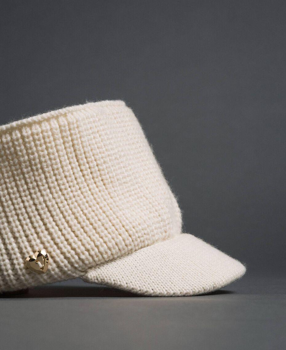 Fascia in maglia con visiera Bianco Vaniglia Donna 192MO5302-02